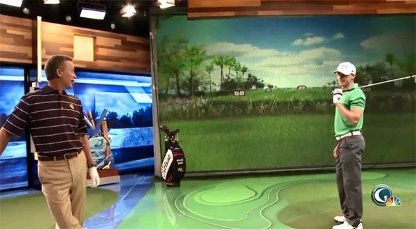 【视频秀】世界长打王Jamie第二次打坏高尔夫频道的模拟器