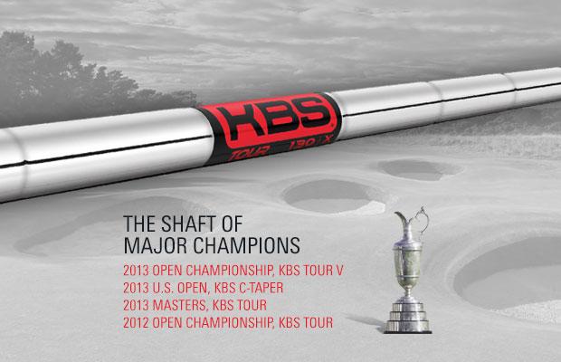【球具新闻】今年的三个大满贯冠军全部使用KBS杆身铁杆