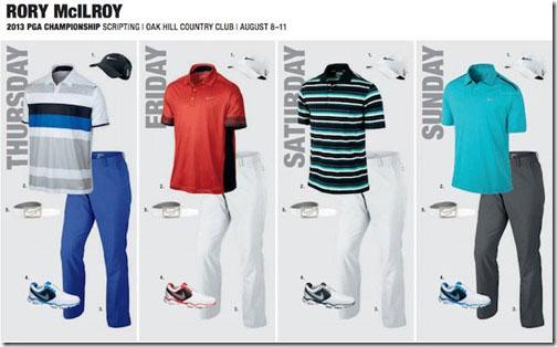 【明星服饰】2013年PGA锦标赛上的球员服饰安排