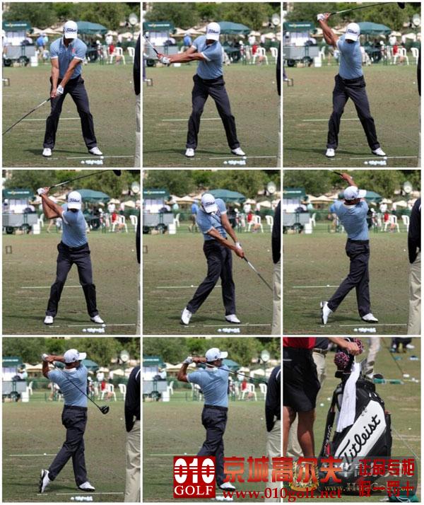 【挥杆动作】亚当-斯科特在球员锦标赛之前的练习场上练习挥杆