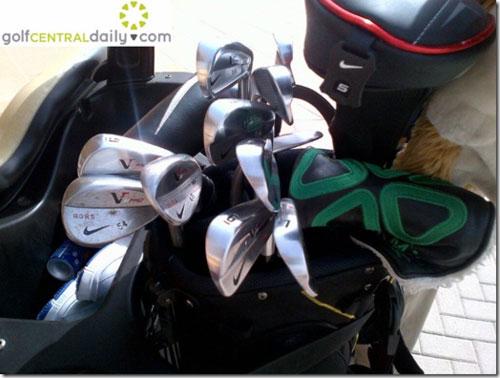 【大牌球包】偷拍到麦克罗伊的新Nike装备! Scotty Cameron推杆目前还在包里