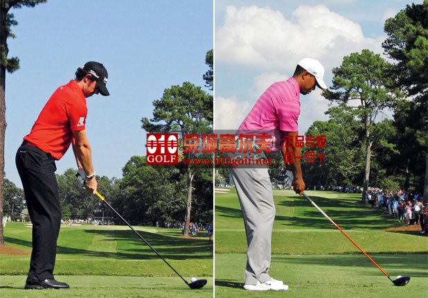 【挥杆动作】麦克罗伊与老虎伍兹的一号木开球挥杆动作比较