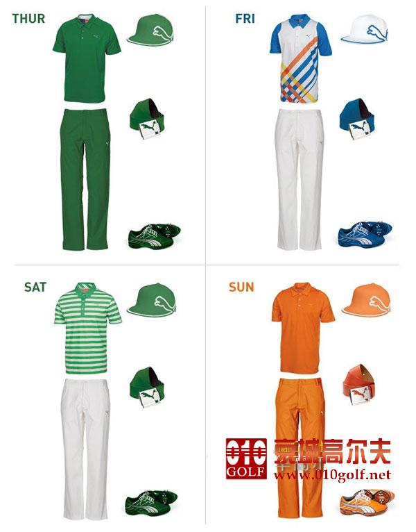 大师赛备战:里奇-福勒的大师赛服装(绿衫儿绿帽子)