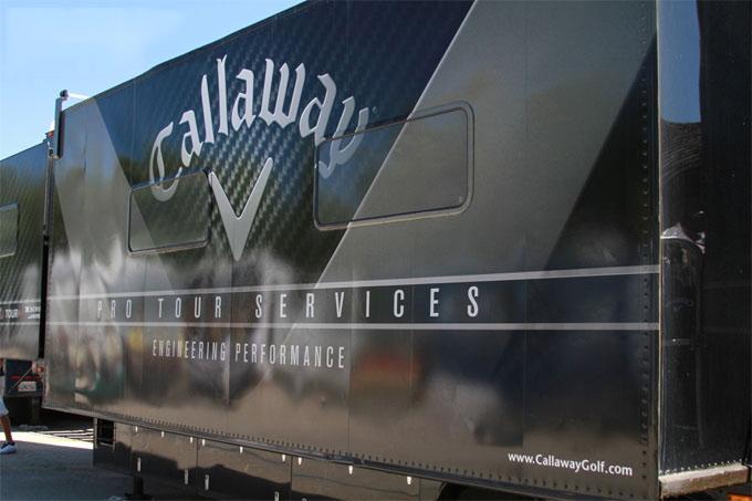球具参观:Callaway职业巡回赛专用移动工房货车