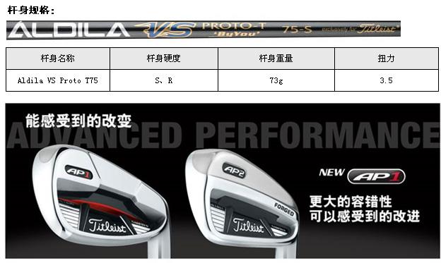 Titleist AP1(ALDILA VS PROTO75)_高球工坊新品球具发布