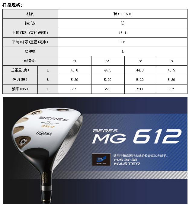 MG612球道木(四星)_高球工坊新品球具发布